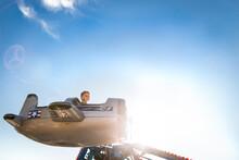 Boy On Aeroplane Carnival Ride