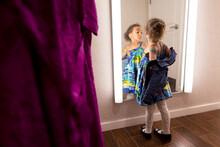 Girl Struts For Dressing Room Mirror