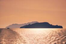 Cyclades Islands Silhouettes In Aegean Sea
