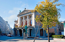 The National Theater And Monument To Bjornstjerne Bjornson, Johanne Dybwads Square, Oslo, Norway