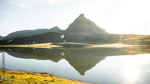 Sunrise and sunset in Mercantour