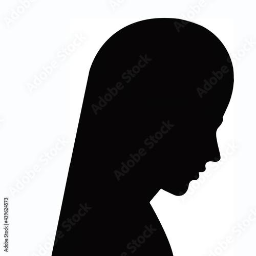 Fotografija Simple silhouette of a persons profile