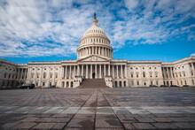 La Place Du Capitole Complètement Désertée à Washington D.C. Aux États-Unis Pendant Le Covid-19.