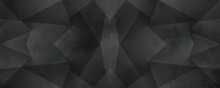 Abstract Black Background, Geometric Wallpaper, Paper Minimal, Pattern Texture, Wall Art, With Geometric Transparent Gradient Rectangles, You Can Use For Ad, Poster And Template, Business Presentation