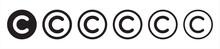 Copyright Icon Set. Copyright Symbols. Vector Illustration Eps10