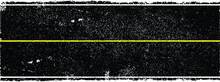 Grunge Textured Road In Perspective. Retro Design Element .Distress Vector Texture .