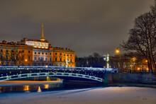 Winter Landscape In St. Petersburg