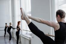 Dancer Rehearsing In Ballroom