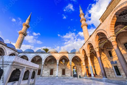 Obraz na plátně Istanbul, Turkey - Suleymaniye Mosque in Constantinople