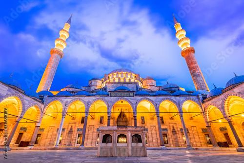 Fotografia, Obraz Istanbul, Turkey - Suleymaniye Mosque in Constantinople, Ottoman Empire