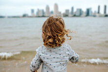 Child Looking At San Diego Bay