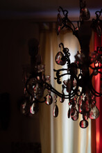 Glass Drops In A Classic Chandelier