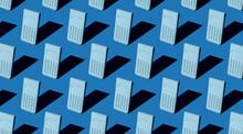 Blue Tones Calculator Pattern