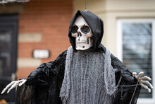 Grim Reaper Spooky Ghost Scary Halloween Decorations In Front Yard