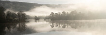 Misty Rydal Water Reflections Lake District