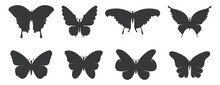 Butterfly Silhouette Vector Collection