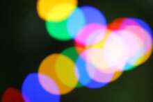 String Of Blurred Multicolored Holiday Lights