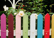 Colorful Garden Fence
