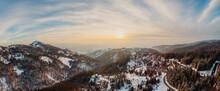 Sunset Over Mountain Village