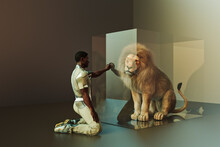 Extinction Series: Aninmals In Glass Cases In Futuristic Settings