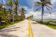 Road By The Sea, San Andres Island, Colombia