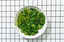 Bowl Of Chopped Herbs