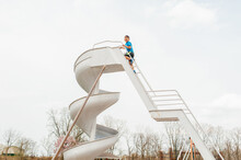 Giant Slide At The Playground.