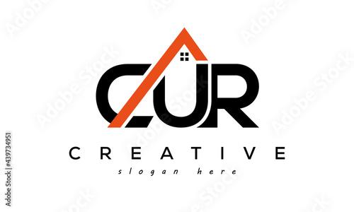 Fotografia CUR letters real estate construction logo vector