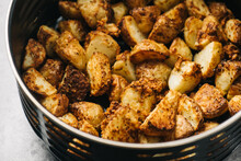 Air Fryer Basket With Potatoes