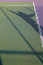 Shadow Of A Tennis Serve