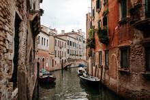 Boat In Water In Venice, Italy