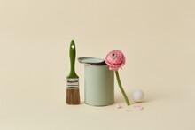 Tin Of Green Paint