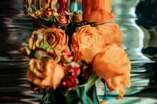 Still Life With Orange Roses.