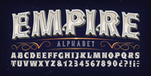 Empire Alphabet; A Multi-dimensional 3d Font With Subtle Ornate And Vintage Byzantine Detail. Good For Elegant Historic And Old World Logo Designs, Film Or Game Titles, Etc.