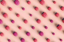Pattern Of Raspberries