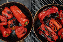 Chargrilled Red Capsicum From Above