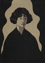 Woman Monochrome Illustration