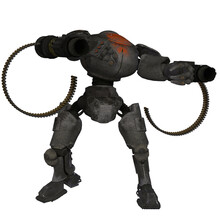3d Illustration Of A Robot With Guns