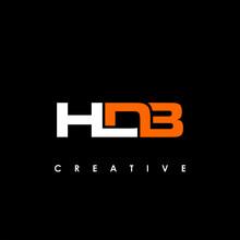 HDB Letter Initial Logo Design Template Vector Illustration