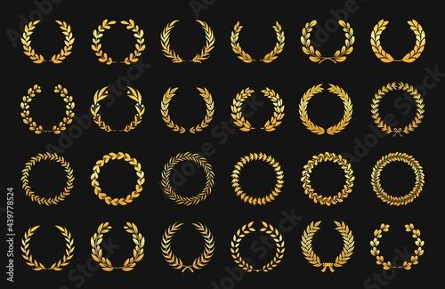 Fotografie, Obraz Golden laurel wreath
