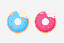 Donut Icon With Mouth Bite