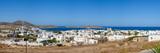 Fototapeta Kwiaty - Panorama of beautiful Naoussa town on Paros island. Cyclades. Greece, Europe