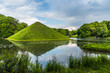 canvas print picture - Park Branitz, Cottbus, Germany: The approximately 13 meter high pyramid is the landmark of the landscape architect Hermann Fuerst von Pueckler-Muskau.