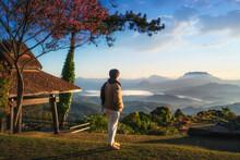 Viewpoint In The Morning At Huai Nam Dang National Park In Chiangmai And Mae Hong Son, Thailand