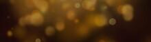 Golden Bokeh Effect On A Black Background