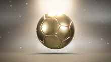 Golden Soccer Ball On Shiny Background