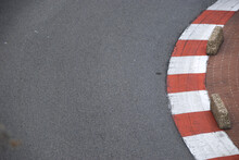 Red An White Curbs Of Monte Carlo Formula 1Race Track