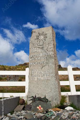 Stampa su Tela Graf Shackleton Grytviken Zuid Georgia, Grave Schackleton Grytviken South Georgi
