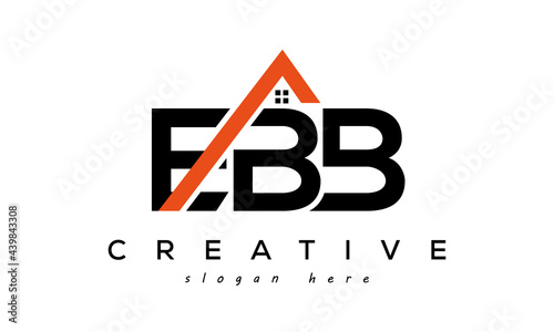 Fotografie, Obraz EBB letters real estate construction logo vector