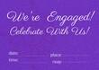 Leinwandbild Motiv Engagement and celebration text with copy space against floral design on purple background